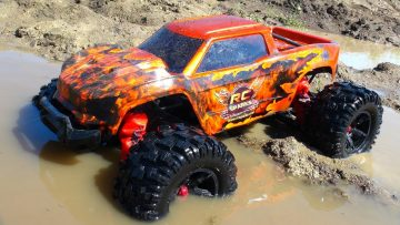 "RC ADVENTURES – MAX AiR & MUD SOUP! 8S TRAXXAS XMaxx ""HELL CAT"" JUMP ACTiON"
