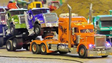 Wow !!! Uimitor !!! FRUMOASA SCARA RC 1:14 MODEL TRUCKS IN MOTION ON A FANTASTIC PARCOUR