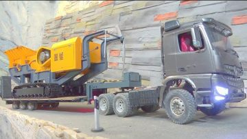 HEAVY RC STONE CRASHER! NEW RC 2020! 80T STEEL OF STEEL FOR THE LRT 1100! RC CONSTRUCTION VEHICLES