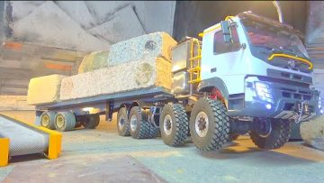 VOLVO FMX 8X8 SPECIAL! 52KG GRANITE STONES ! 15% SLOPE TO THE HILL