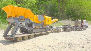 BIGGEST RC TRANSPORTATION! SC 80 SONE CRUSHER! HEAVY HAUL TRUCK VOLVO FMX 8X8! SPECIAL RC 2020
