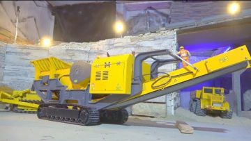 HEAVY RC STONE CRASHER SC-80 AT WORK ! LIEBHERR LRT 1100 在行动! STUNING RC VEHICLES