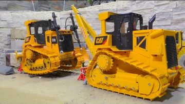 CAT D9 – RC D9 AND THE NEW FROZEN GROUND TRACKS – BIG AND AMAZING RC MODEL