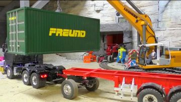 CONSTRUCTION SITE – RC CONTAINER LOAD WITH THE 956 Liebherr