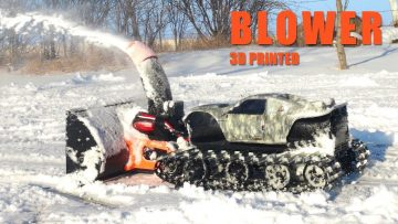 RC ΠΕΡΙΠΈΤΕΙΕς – TRACKED MACHiNE, 3D Printed SNOW Blower!