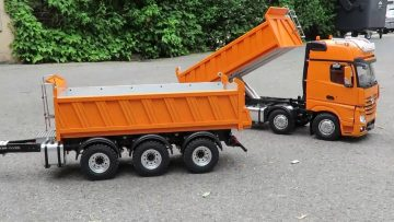 BEST OF RC – AMAZING 8X8 TIPPER AND THREE AXLE TRAILER – FROM THICON MODELS !