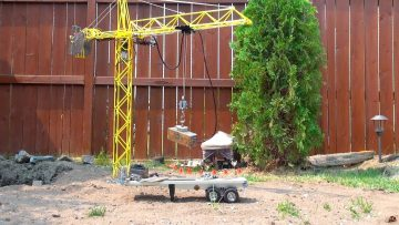 RC AVANTURE – 5′ Hand Made, High Steel Tower Crane & Electro-Magnet