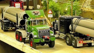 GREAT RC MODEL TRUCK COLLECTION IN SCALE 1:14 AMAZING MODELS IN MOTION ON A FANTASTIC PARCOUR