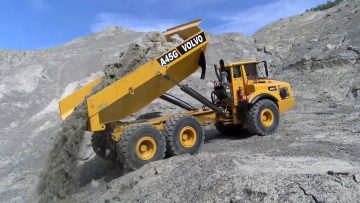 STRONG VOLVO A45G! WORLD OF RC IN ACTION! HEAVY RC CONSTRUCTION SITE! YOUTUBE SILVER