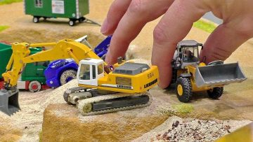 MINIATURE MICRO RC CONSTRUCTION SITE IN SCALE 1:87 ON A DIORAMA WITH AMAZING FUNCTIONALITY MODELS