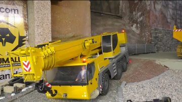 CONSTRUCTION ZONE, RC LIEBHERR LTM 1055 first drive!