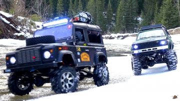 RC 冒险 – Gelände II 4×4 Defender D90 & Toyota Hilux Trail Finder 2 – Icy Scale RC Trucks