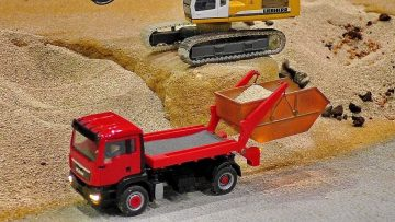 MINIATURE MICRO MAN MODEL TRUCK IN SCALE 1:87 WITH FANTASTIC FUNKTIONALITY AT WORK AND IN MOTION