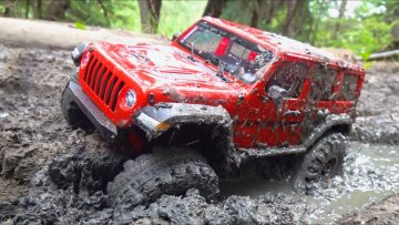 JEEP JLU gets STUCK in THICK MUD! 2020 PORTAIL AXIAL & DIG 4×4 Trail Ready JEEP – Rtr | AVENTURES RC