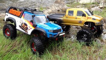 AVENTURAS RC – TWO TRUCKS GO WHEELiN'! MOE's FRESH LiFTED MUDDY Traxxas TRX-4 & OVERKiLL 2020 4×4 !