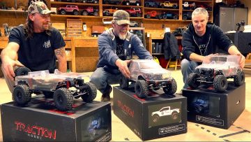 SURPRISING FRIENDS w/ 3 NEW TRAIL TRUCKS! TRACTION HOBBY CRAGSMAN 1:8 JEEP & RAPTOR | RC ADVENTURES