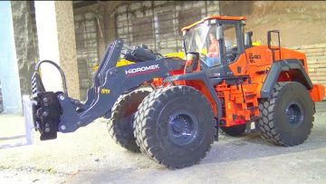 NEW HIDROMENK 640 Wl! NEW MOLDELS 2020 EN ACTION! 25t WHEEL LOADER FIRST DRIVE