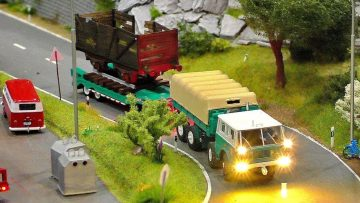 MINIATURE MICRO RC MODEL CRANE TRUCKS AND OTHER IN SCALE 1:87 WITH FANTASTIC FUNKTIONALITY IN MOTION