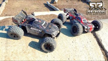 DOUBLE FRONT FLiP to 180 TWiST to BACK FLiP – DUAL ARRMA KRATON STOCK vs EXB BASHOFF | RC AVONTUREN