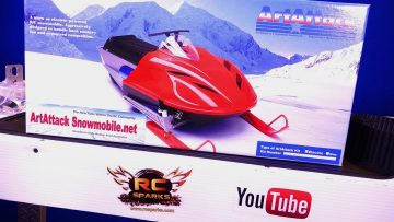 RC ADVENTURES – Unboxing the ART ATTACK SNOWMOBiLE KiT – w/ Electric Motor Transmission