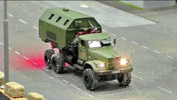 MINIATURE MICRO RC URAL TRUCK MODEL IN SCALE 1:87 WITH FANTASTIC FUNKTIONALITY AND IN MOTION