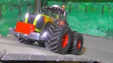 RC CLAAS XEREON 5000! BIG MUD AIR WHEELS NEW! FANTASTIC SELF MADE RC TRACTOR! COOL  BRUDER RE-BUILD
