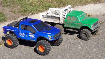 WHO WILL WiN? TUG of WAR & TRAiL TRUCKiNG! CLASSIC '79 FORD 6×6 vs 4×4 FORD RAPTOR | RC ПРИКЛЮЧЕНИЯ