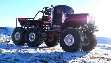 RC ADVENTURES – 1/10th scale 6×6 Snow Fun – POWER & Freezing Temperatures makes plastic Brittle