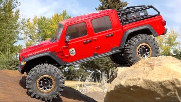 BRAND NEW ROCK SETUP! JEEP GLADiATOR RTR PERFORMS AMAZING IN 2020! AXIAL SCX10 3 4×4 | RC AVANTURE