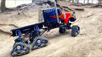 "OPTIMUS ""PRIME-TIME"" OVERKILL 6x6x6 SEMI TRUCK on TRACKS in DiRT! 