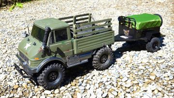 RC ADVENTURES – Tent Trailer & Mercedes Unimog 4×4 – RC4WD & Tamiya CCO1
