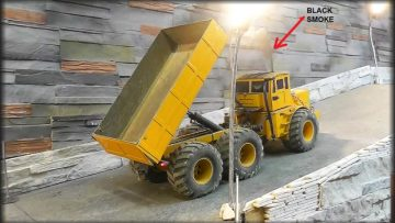 HEAVY RC CONSTRUCTION MACHINES! FANTASTISK RC TIPPER! KIROVETS K 700!  RC LIVE ACTION FOR KIDS