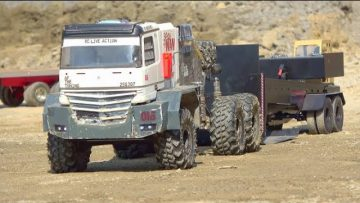 HEAVY RC TRUCK PULLING! STRONG RC TRUCKS IN ACTION! HEAVY RC  PULLING TRAILER! BEST RC  LIVE ACTION