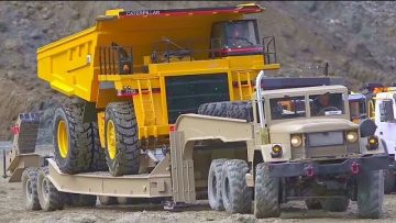 AMAZING AND HUGE RC TRUCKS! CATERPILLAR EQUIPMENT IN ACTION! HC6 6X6 SPECIAL