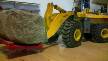 Schwere!  STRONG RC WHEEL LOADER l RC KOMATSU WA 600-6 l SCALE 1/14 l HEAVY BOLCK LOAD l