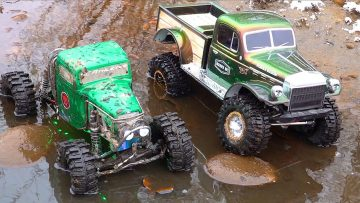 GET WET – Two Guys Play with Muddy RC 4×4 Trucks – AXIAL SCX10 RELIC & POWER WAGON | AVENTURAS RC