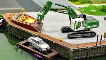 RC CAR TRANSPORT IN HAVEN FASCINATING MODELS IN SCALE 1:87 IN MOTION AND AT WORK