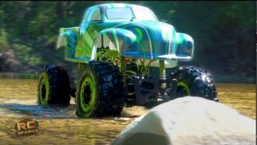 "AVENTURAS RC – ""GREEN BASTARD"" 1/5th 4×4 Trail Truck / Correa eslabonada – Short Intro Vid"