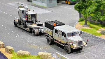 MICRO MINIATURE RC TRUCK TRANSPORTED EXCAVATOR / MODELS IN SCALE 1:87 WITH FANTASTIC FUNKTIONALITY