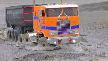 HEAVY RC TRUCKS WORK IN MUD AND WATER! FANTASTIC VOLVO L250GS! BEST OUTDOOR CONSTRUCTION VEHICLES
