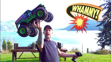 I HIT MY WiFE w/ a SOLID AXLE MONSTER TRUCK (LMT) GRAVE DIGGER. SORRY BABE! | AVENTURAS RC