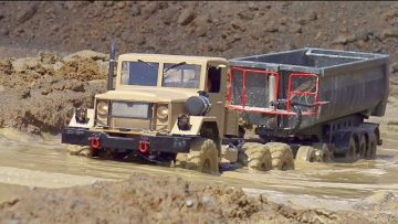 RC TRUCKS AND CONSTRUCTION MACHINES IN MOTION! RC CAR! RC GLOBE LINER, PELLES RC, RC MUDDING