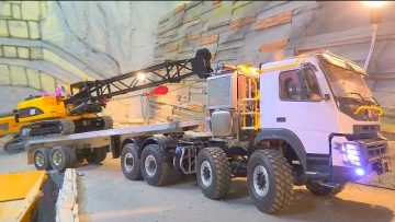 VOLVO FMX 8X8 TONAGE TRUCK! HEAVY TRACK CRANE HAULAGE! NEW RC 2021! NEW RC TRUCKS! RC CAR