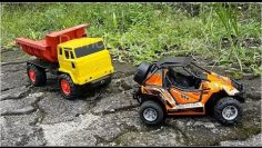 rc car Review Offroad RC Car Towing Broken Truck | Offroad Truck | Derrick Toys Review