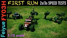 rc auto Review First Run 2s/3s Geschwindigkeitstests – Feiyue FY03H 1/12 2.4G 4WD Brushless RC Auto Wüste Offroad TRUCK RTR