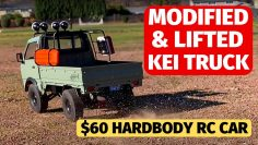 WPL D12 K12 Kei Truck modified, lifted and brushless