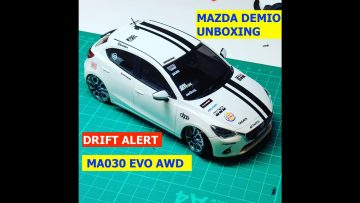 Garage RC presents ……why I love My ma030 evo awd ..unboxing and drifting Demio xd touring
