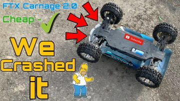 FTX Carnage 2.0 rc car goes to the skate park. **Crashed it* + Review Ft Mr Banana*