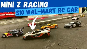 Kyosho Mini Z Racing With a Walmart RC Car | Shaws RC Track and Shop Tour