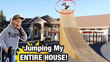 Jumping My ENTIRE HOUSE! RC Car VS MEGA RAMP!!